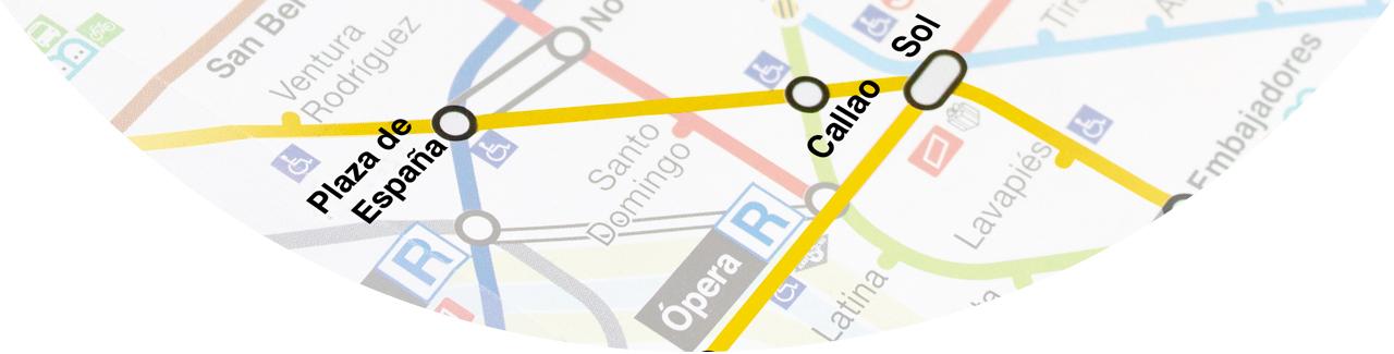 cabecera de la acción especial en el metro de Madrid