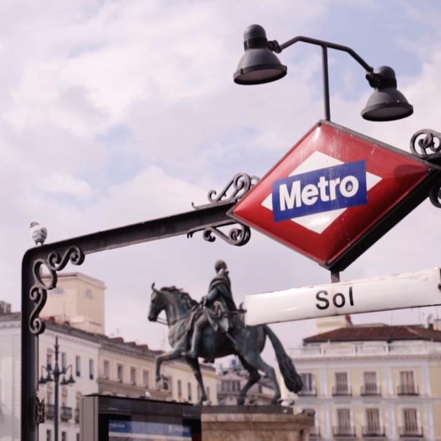 Betadine en el metro de Madrid